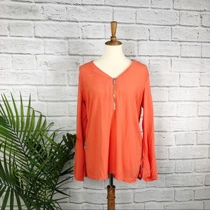Michael Kors | Orange Long Sleeve Blouse